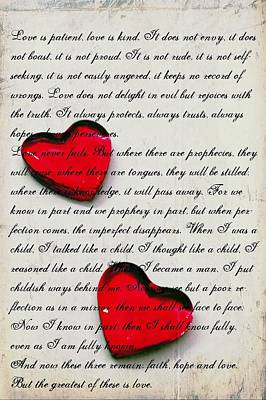 Photograph - Words Of Love Art by Sheila Mcdonald