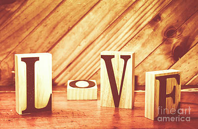 Words Background Photograph - Words Of Love by Jorgo Photography - Wall Art Gallery