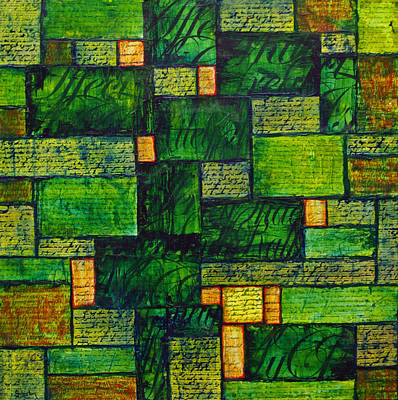 Moral Mixed Media - Words To Live By by Cindy Johnston
