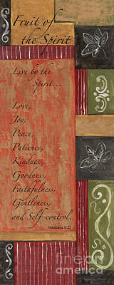 Bible Wall Art - Painting - Words To Live By, Fruit Of The Spirit by Debbie DeWitt