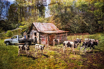 Photograph - Work At The Farm by Debra and Dave Vanderlaan