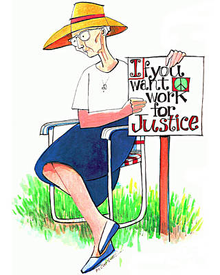 Painting - Work For Justice - Mmwfj by Br Mickey McGrath OSFS