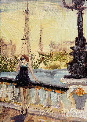 Paris Painting - Work From Wherever by Jodi Monahan