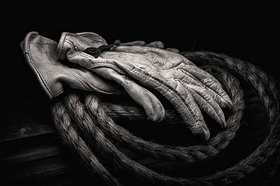 Ropes Photograph - Work Gloves Still Life by Tom Mc Nemar