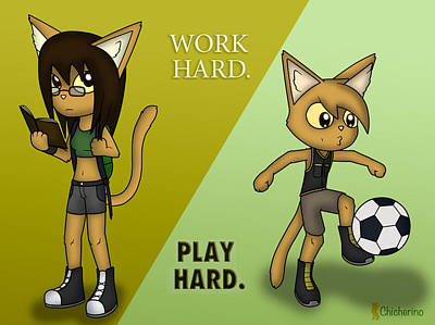 Digital Art - Work Hard. Play Hard. by Jayson Halberstadt
