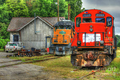 Photograph - Work Horse Trains 2 Madison Georgia Locomotive Art by Reid Callaway