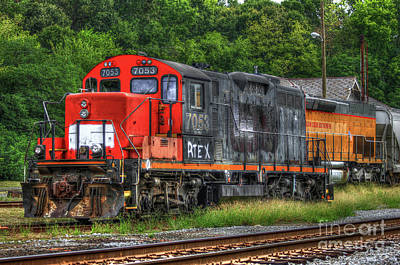 Photograph - Work Horse Trains Madison Georgia Locomotive Art by Reid Callaway