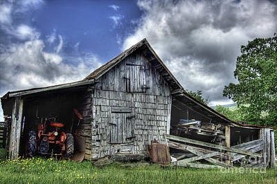 Barn Photograph - Work Is All Done by Pete Hellmann