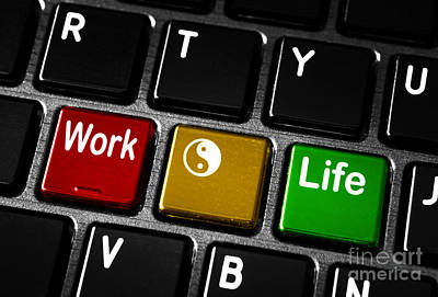 Keypad Photograph - Work Life Balance by Blink Images