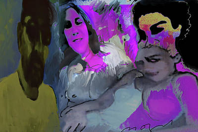 Painter Mixed Media - Work On Progress by Noredin Morgan