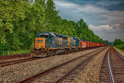 Wall Art - Photograph - Work Train In Strathmore by Cliff Middlebrook