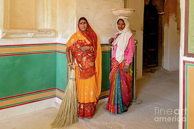 Photograph - Workers In Amer Fort 02 by Werner Padarin