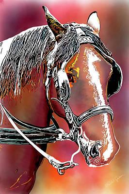 Digital Art - Workhorse Portrait Painting I by Dale Jackson