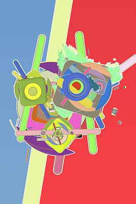 Generative Mixed Media - Workhorse by Six Jewels