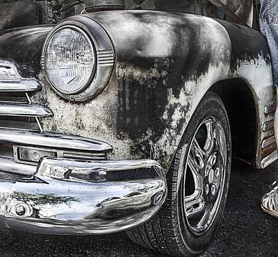 Photograph - Workin On My Chevy by Theresa Tahara