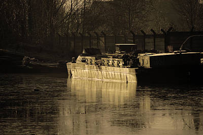 Martinspixs Photograph - Working Barge  by Martin Matthews