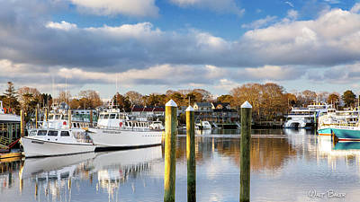 Photograph - Working Boats Of Hyannis  by Walt Baker