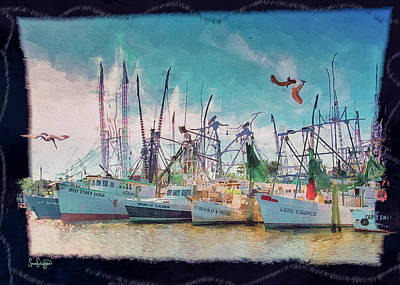 Digital Art - Working Boats by Sandra Schiffner