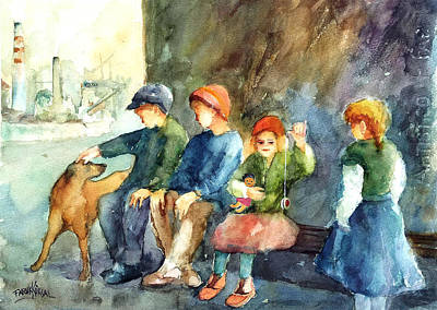 Painting - Working Class Children by Faruk Koksal