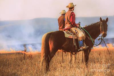 Working Cowboy Photograph - Working Cowboys by Lynn Sprowl