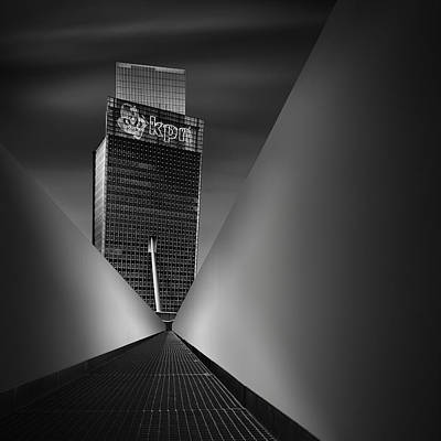 Blackandwhite Photograph - Working Dynamics I ~ Kpn Telecom Tower by Mabry Campbell