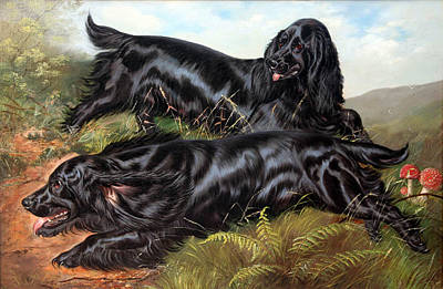 Painting - Working Field Spaniels by Celestial Images