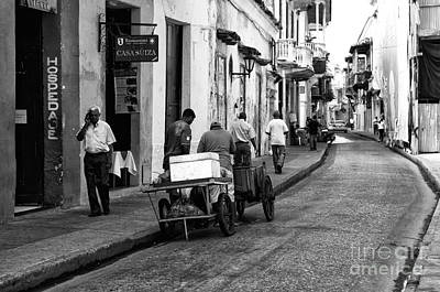 Artist Working Photograph - Working In Cartagena by John Rizzuto