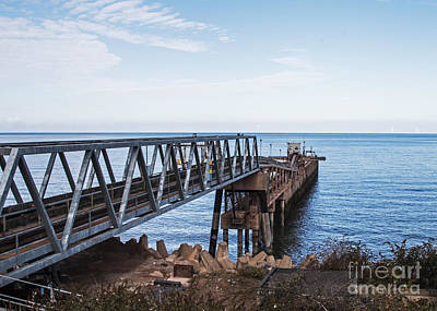 North Wales Digital Art - Working Jetty  by Chris Evans
