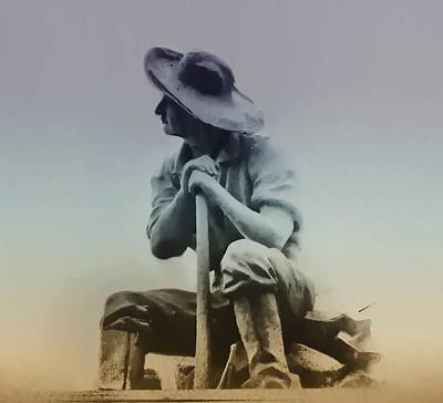 Working Cowboy Digital Art - Working Man by Bill Cannon