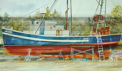 Painting - Working On Alosa  by P Anthony Visco