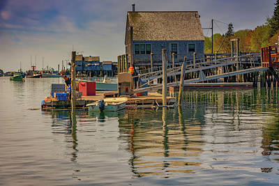 Photograph - Working On The Dock by Rick Berk