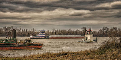 Photograph - Working On The Mississippi Dsc09616 by Greg Kluempers
