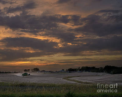 Photograph - Working The Field John Deere At Sunset by Art Whitton