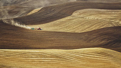 Photograph - Working The Fields In Palouse by Eduard Moldoveanu