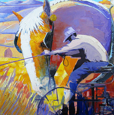 Working The Land Art Print by Gregg Caudell