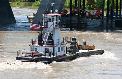 Photograph - Working The Missouri - Keith Jacobson Barge Tender by David Dunham