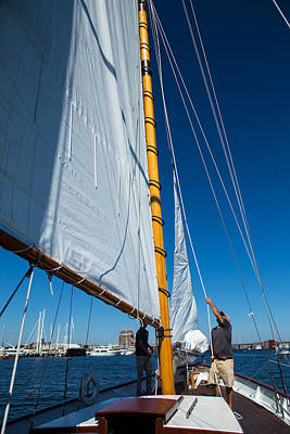 Photograph - Working The Sails by Karol Livote