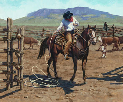Painting - Working The Wells Ranch by Sheila Cottrell