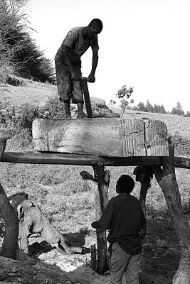 Photograph - Working The Wood by Aidan Moran