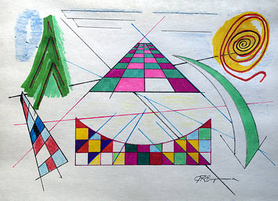 Drawing - Working Through The Angles by J R Seymour