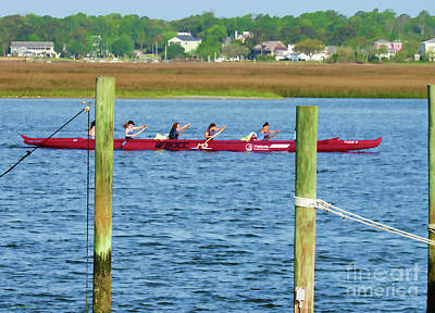 Photograph - Working Together At Rowing by Roberta Byram
