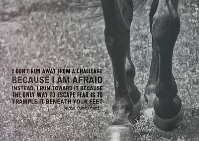 Working Trot Quote Art Print by JAMART Photography