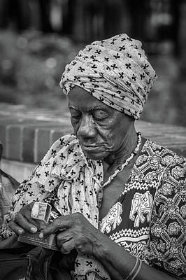 Photograph - Working With Her Hands by John Haldane