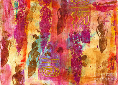 Divine Wisdom Painting - Working Women Abound by Angela L Walker