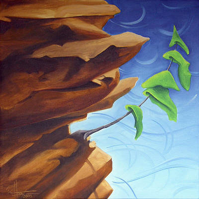 Painting - Working Your Way Up by Richard Hoedl