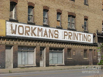 Photograph - Workmans Printing by Michael Krek