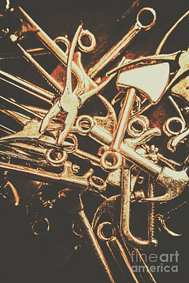 Tools Photograph - Workshop Abstract by Jorgo Photography - Wall Art Gallery