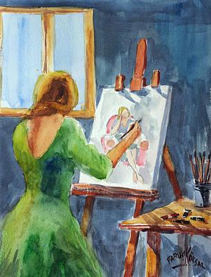 Painting - Workshop by Faruk Koksal