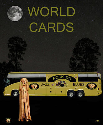 New Orleans Oil Mixed Media - World Cards by Eric Kempson
