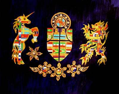 Mixed Media - World Coat Of Arms by Bob Craig